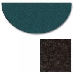 Polyester Half Round Black Rugs