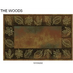 Goods of the Woods Autumn Leaves Rectangular Vista Rug - 30 Inches x 50 Inches