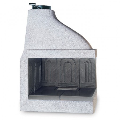 """Wood Burning Fireplace Insert with Cast Iron Walls """"Ghisafort A90"""""""