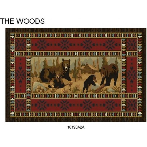Goods of the Woods Bears at Cabin Rectangular Vista Rug - 30 Inches x 50 Inches
