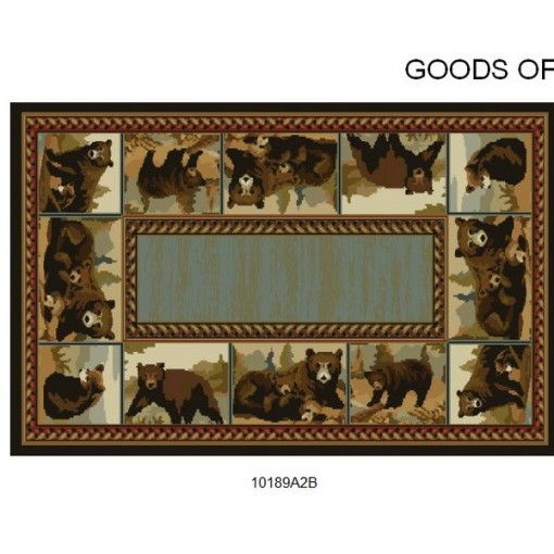 Goods of the Woods Bears Posing Rectangular Vista Rug - 30 Inches x 50 Inches