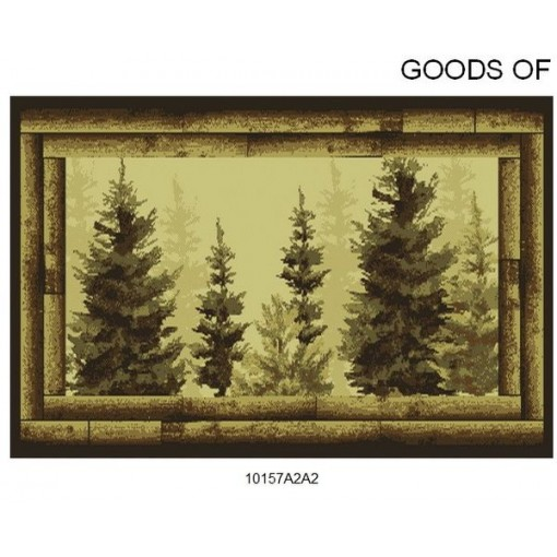 Goods of the Woods Forest Trees Rectangular Vista Rug - 30 Inches x 50 Inches