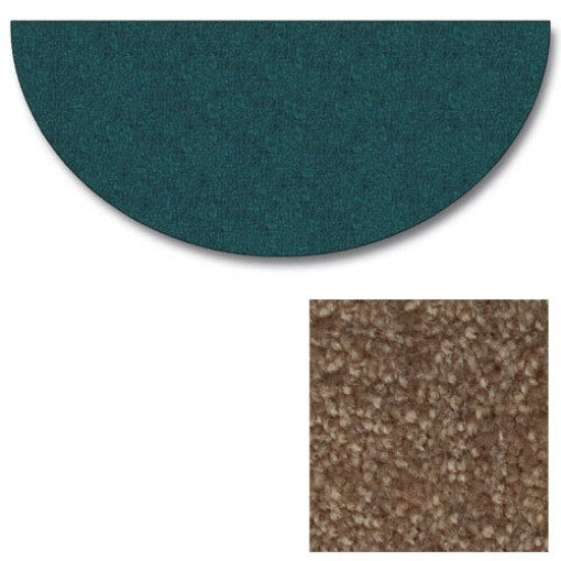 Polyester Half Round Light Hickory Rugs