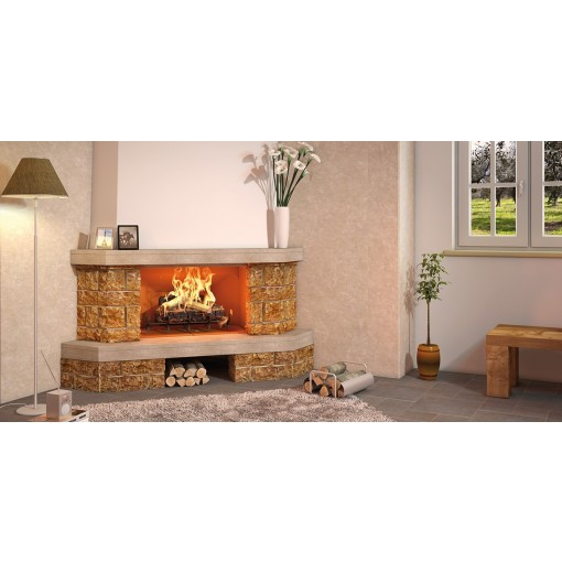 "Wood Burning Corner Fireplace ""Palma"""