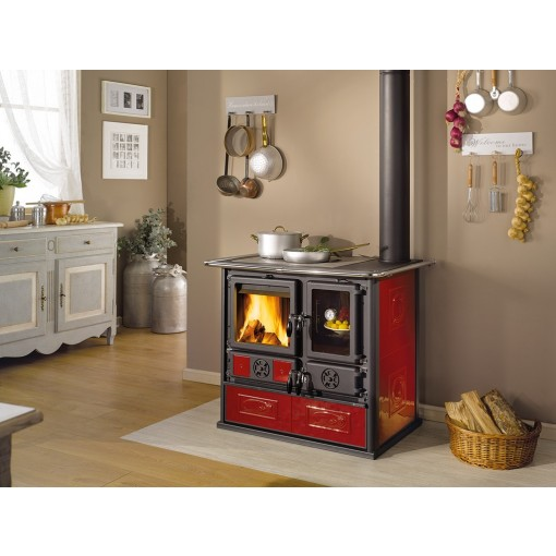 """Rosa Reverse"" Wood Burning Cook Stove by La Nordica"