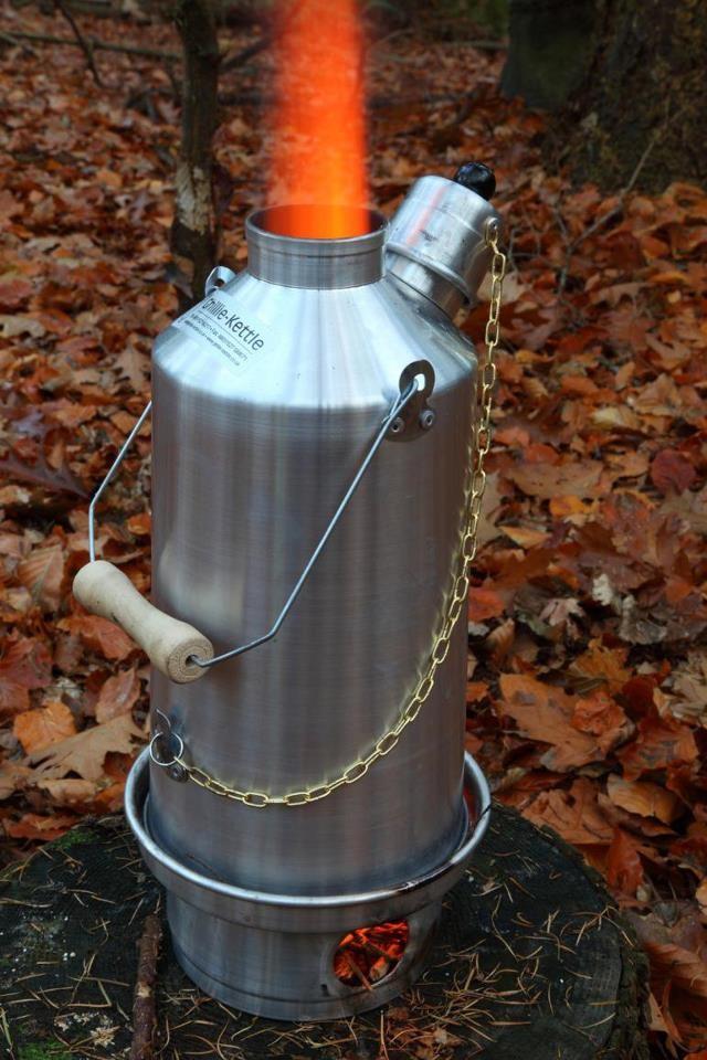 Ghillie Kettle 1.5L Adventurer Silver Anodised Full Kit