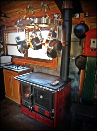 Wood Cook Stove La Nordica Rosa Maiolica 3 Colors