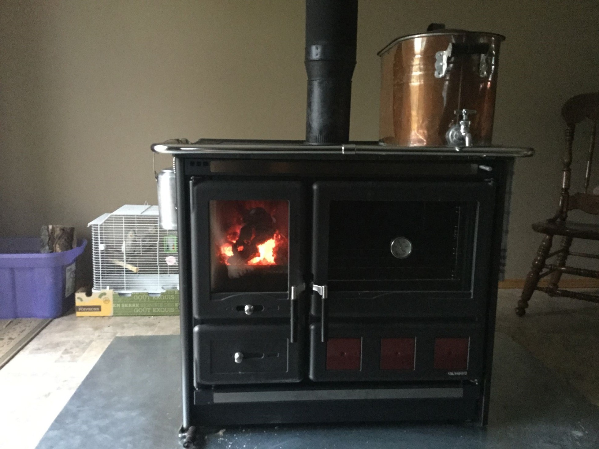 """wood burning cook stove la nordica """"rosa xxl"""""""