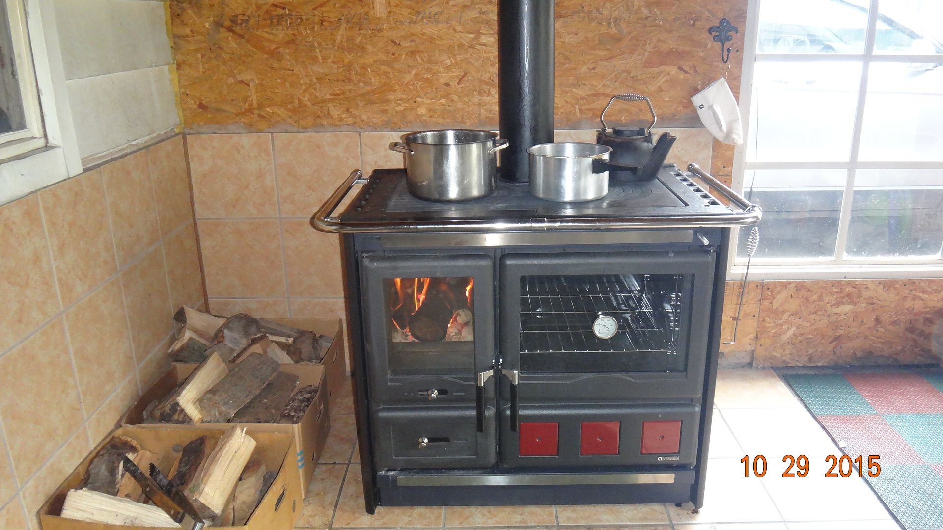 wood burning cook stove la nordica rosa xxl