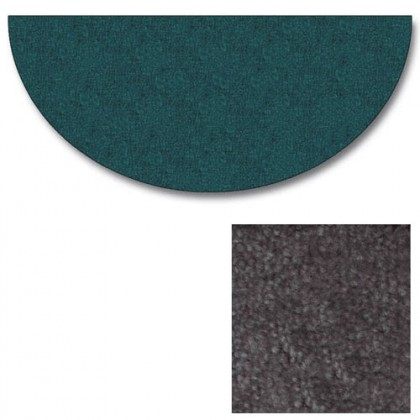 Polyester Half Round Grey Rugs