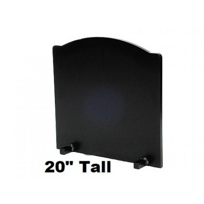 "3/4"" x 20"" Tall T-HDRF-5 Reflective Fireback 21"" Wide"
